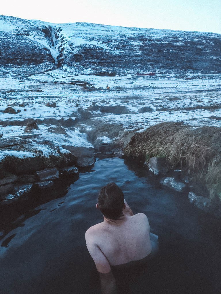 Iceland geothermal pool
